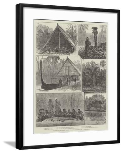 Sketches in the Solomon Islands--Framed Art Print