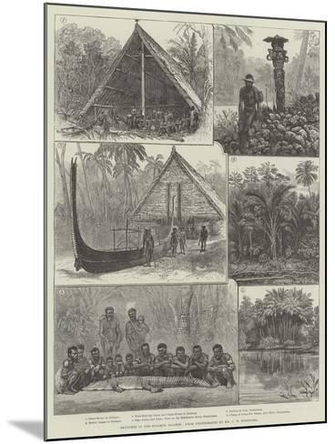 Sketches in the Solomon Islands--Mounted Giclee Print