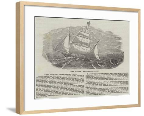 The Problem Experimental Yacht--Framed Art Print
