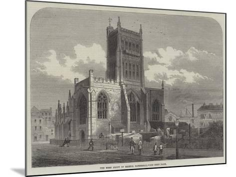 The West Front of Bristol Cathedral--Mounted Giclee Print