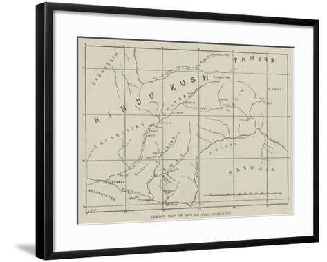 Sketch Map of the Chitral Campaign--Framed Art Print