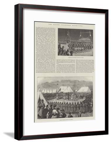 The Easter Volunteer Manoeuvres--Framed Art Print