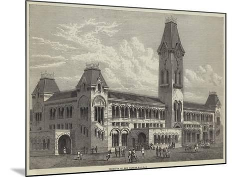 Terminus of the Madras Railway--Mounted Giclee Print