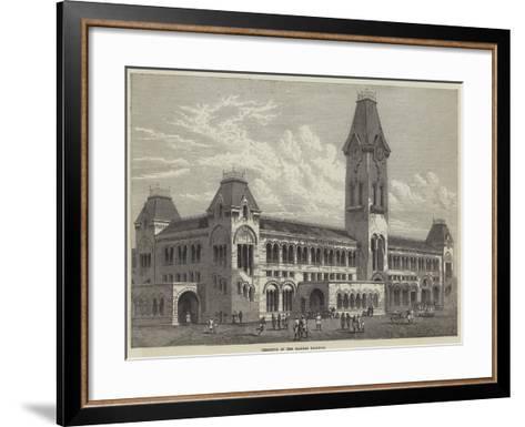 Terminus of the Madras Railway--Framed Art Print