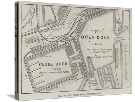 Plan of the Inner Dock, Southampton--Stretched Canvas Print