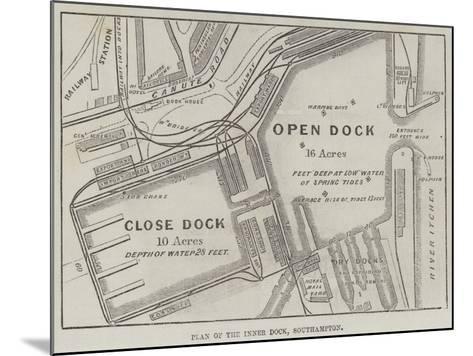 Plan of the Inner Dock, Southampton--Mounted Giclee Print