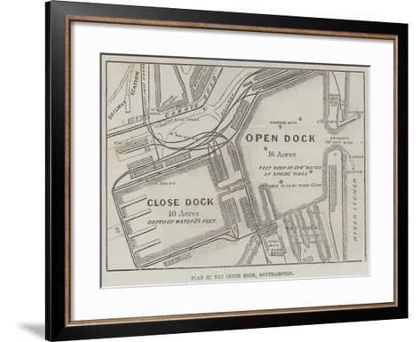 Plan of the Inner Dock, Southampton--Framed Art Print
