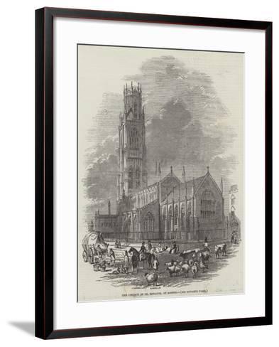 The Church of St Botolph, at Boston--Framed Art Print