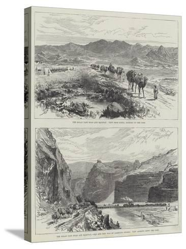 The Bolan Pass Road and Railway--Stretched Canvas Print