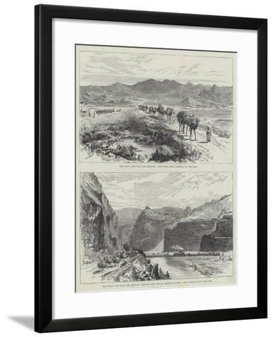 The Bolan Pass Road and Railway--Framed Art Print