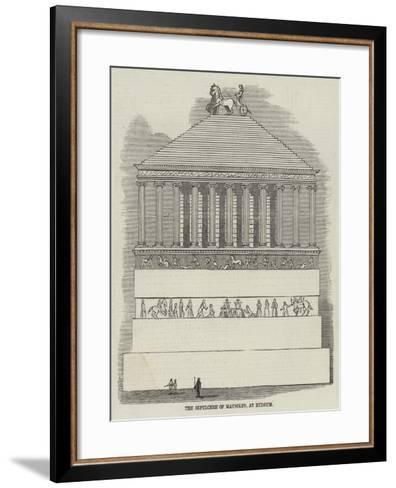 The Sepulchre of Mausolus, at Budrum--Framed Art Print