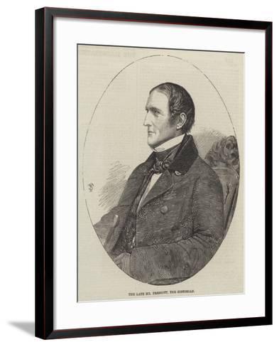 The Late Mr Prescott, the Historian--Framed Art Print