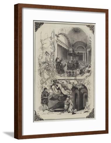 The Funeral of the Duke of Sussex--Framed Art Print