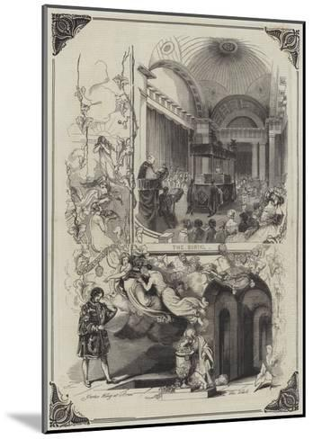The Funeral of the Duke of Sussex--Mounted Giclee Print