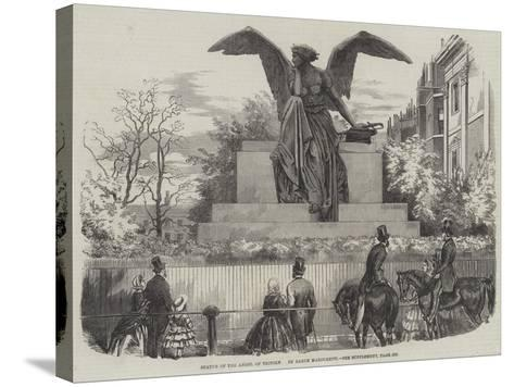 Statue of the Angel of Victory--Stretched Canvas Print