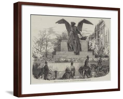 Statue of the Angel of Victory--Framed Art Print