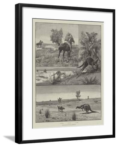Kangaroo-Hunting in Australia--Framed Art Print
