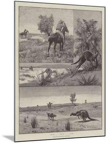 Kangaroo-Hunting in Australia--Mounted Giclee Print
