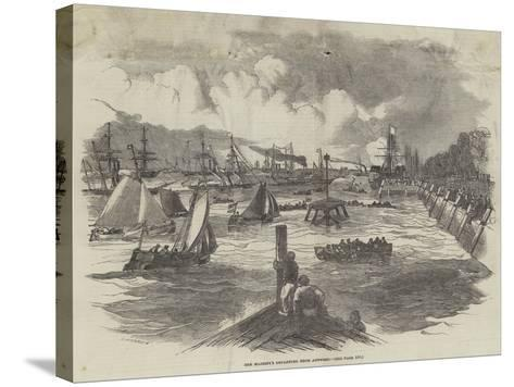 Her Majesty's Departure from Antwerp--Stretched Canvas Print