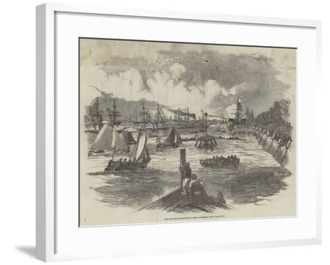 Her Majesty's Departure from Antwerp--Framed Art Print