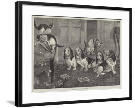 A New Dog-Fancy, the Bassett Hounds--Framed Art Print