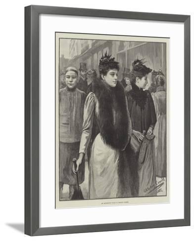 An Afternoon Walk in Regent Street--Framed Art Print