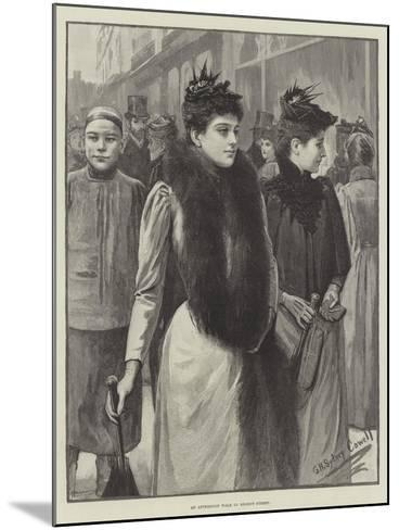 An Afternoon Walk in Regent Street--Mounted Giclee Print