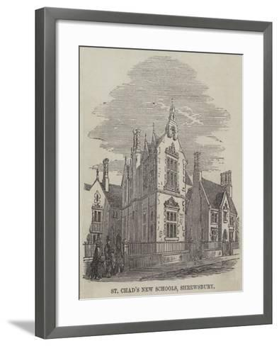 St Chad's New Schools, Shrewsbury--Framed Art Print