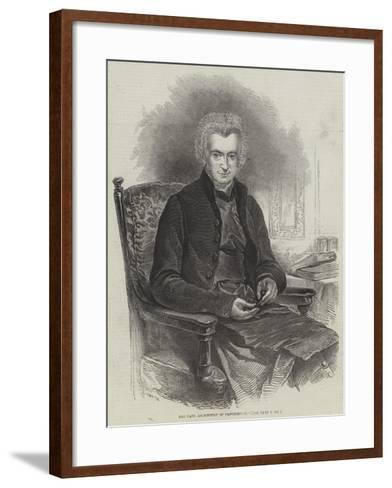 The Late Archbishop of Canterbury--Framed Art Print