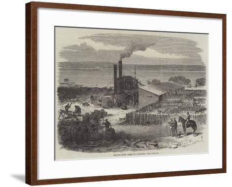 Boiling Down Sheep in Australia--Framed Art Print