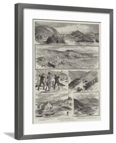 Sketches of a Cruise to Alaska--Framed Art Print