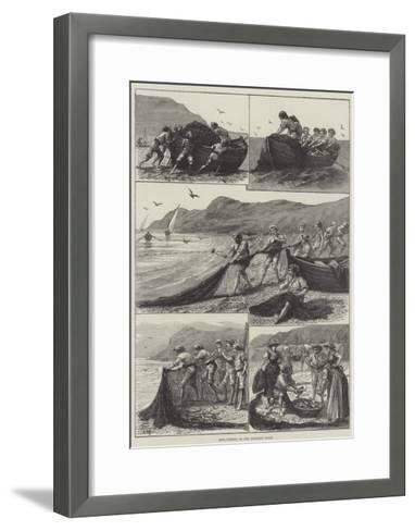 Reta-Fishing on the Corsican Coast--Framed Art Print