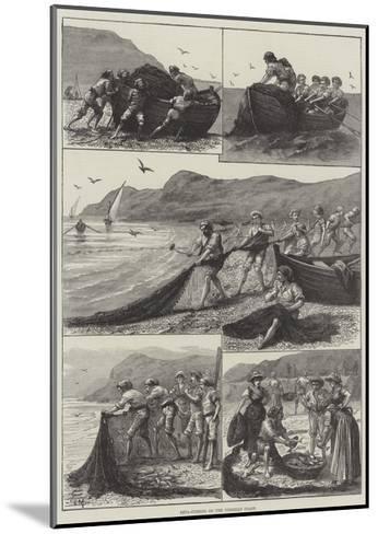 Reta-Fishing on the Corsican Coast--Mounted Giclee Print