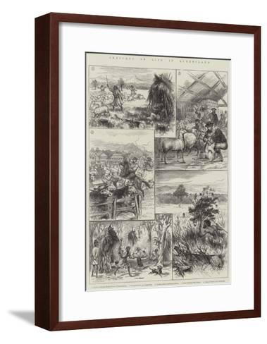 Sketches of Life in Queensland--Framed Art Print