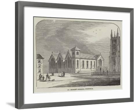 St George's Schools, Sheffield--Framed Art Print