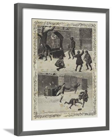 Civil War, Attack and Retreat--Framed Art Print
