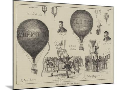 International Balloon Contest--Mounted Giclee Print