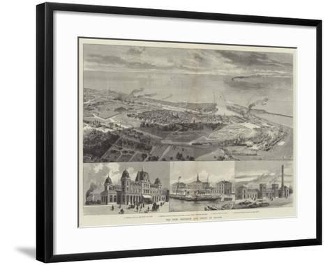 The New Harbour and Docks at Calais--Framed Art Print