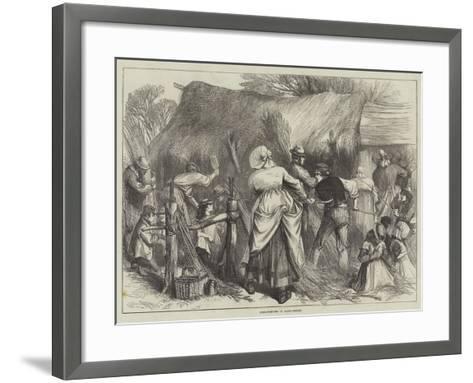Osier-Stripping in Warwickshire--Framed Art Print