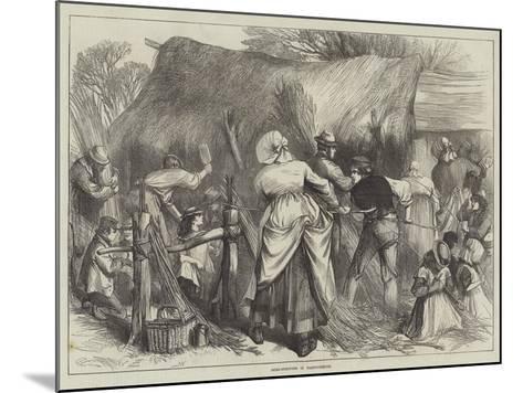 Osier-Stripping in Warwickshire--Mounted Giclee Print