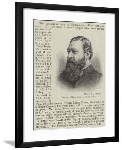 The Late Reverend Samuel Flood Jones--Framed Art Print