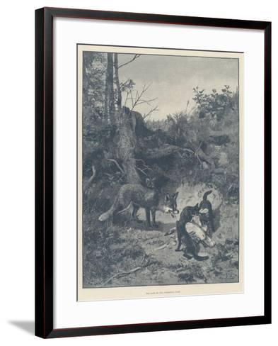 The Fate of Our Christmas Goose--Framed Art Print