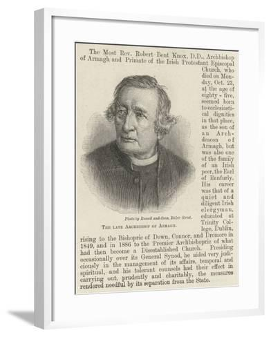 The Late Archbishop of Armagh--Framed Art Print