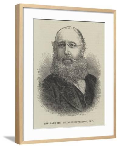 The Late Mr Bromley-Davenport--Framed Art Print