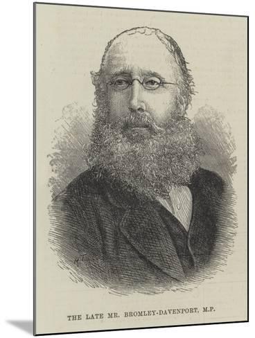 The Late Mr Bromley-Davenport--Mounted Giclee Print
