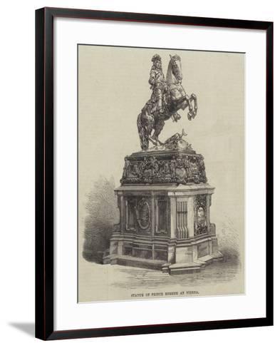 Statue of Prince Eugene at Vienna--Framed Art Print