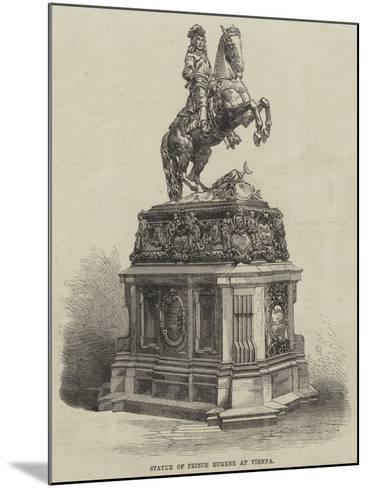 Statue of Prince Eugene at Vienna--Mounted Giclee Print