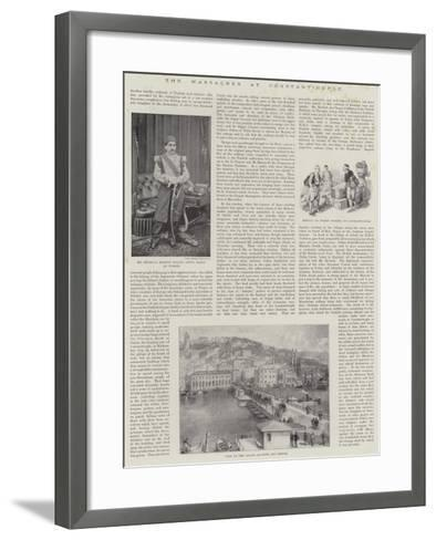The Massacres at Constantinople--Framed Art Print