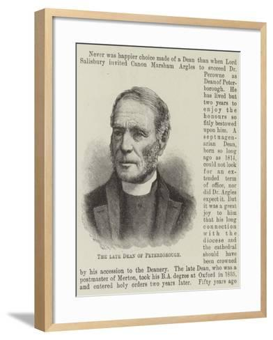 The Late Dean of Peterborough--Framed Art Print
