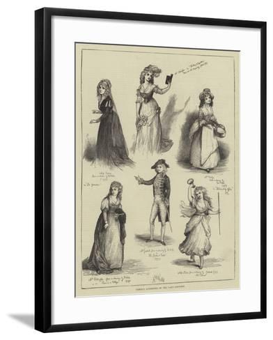 Famous Actresses of the Last Century--Framed Art Print